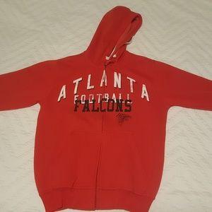 NFL Atlanta Falcons full zipper & hood Large